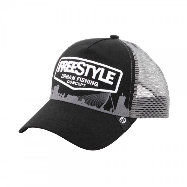 Freestyle Trucker Cap Black Front